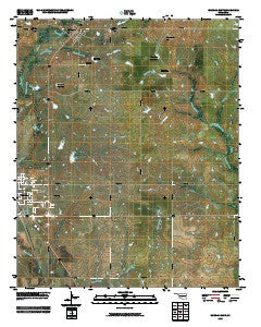 Waurika East Oklahoma Historical topographic map, 1:24000 scale, 7.5 X 7.5 Minute, Year 2009