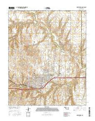 Weatherford Oklahoma Current topographic map, 1:24000 scale, 7.5 X 7.5 Minute, Year 2016