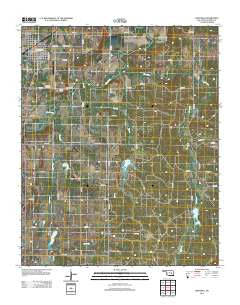Wetumka Oklahoma Historical topographic map, 1:24000 scale, 7.5 X 7.5 Minute, Year 2012