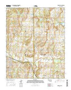 Wewoka East Oklahoma Current topographic map, 1:24000 scale, 7.5 X 7.5 Minute, Year 2016 from Oklahoma Map Store