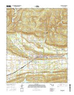 Wilburton Oklahoma Current topographic map, 1:24000 scale, 7.5 X 7.5 Minute, Year 2016 from Oklahoma Map Store