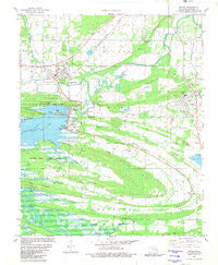 Wister Oklahoma Historical topographic map, 1:24000 scale, 7.5 X 7.5 Minute, Year 1981