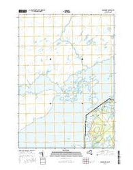 Gananoque Ontario Current topographic map, 1:24000 scale, 7.5 X 7.5 Minute, Year 2016