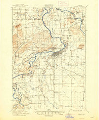 Albany Oregon Historical topographic map, 1:62500 scale, 15 X 15 Minute, Year 1916