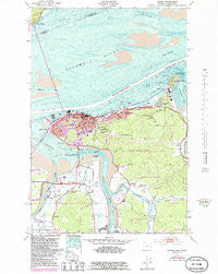 Astoria Oregon Historical topographic map, 1:24000 scale, 7.5 X 7.5 Minute, Year 1949