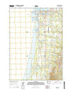 Bandon Oregon Current topographic map, 1:24000 scale, 7.5 X 7.5 Minute, Year 2014 from Oregon Map Store