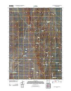 Battle Mountain Oregon Historical topographic map, 1:24000 scale, 7.5 X 7.5 Minute, Year 2011