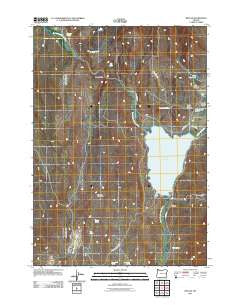 Beulah Oregon Historical topographic map, 1:24000 scale, 7.5 X 7.5 Minute, Year 2011