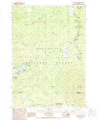 Black Butte Oregon Historical topographic map, 1:24000 scale, 7.5 X 7.5 Minute, Year 1988
