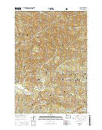 Blaine Oregon Current topographic map, 1:24000 scale, 7.5 X 7.5 Minute, Year 2014 from Oregon Map Store