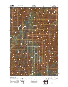 Bone Spring Oregon Historical topographic map, 1:24000 scale, 7.5 X 7.5 Minute, Year 2011