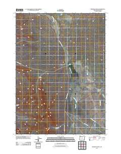 Bowden Ranch Oregon Historical topographic map, 1:24000 scale, 7.5 X 7.5 Minute, Year 2011