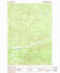 Breitenbush Hot Springs Oregon Historical topographic map, 1:24000 scale, 7.5 X 7.5 Minute, Year 1988