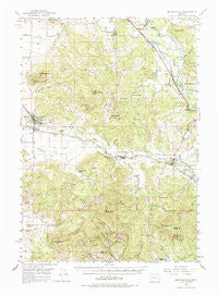 Brownsville Oregon Historical topographic map, 1:62500 scale, 15 X 15 Minute, Year 1950
