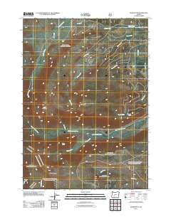 Burn Butte Oregon Historical topographic map, 1:24000 scale, 7.5 X 7.5 Minute, Year 2011