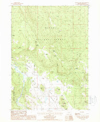 Buttes of The Gods Oregon Historical topographic map, 1:24000 scale, 7.5 X 7.5 Minute, Year 1988