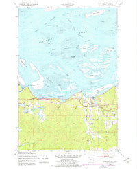 Cathlamet Bay Oregon Historical topographic map, 1:24000 scale, 7.5 X 7.5 Minute, Year 1949