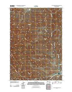 Clover Creek Ranch Oregon Historical topographic map, 1:24000 scale, 7.5 X 7.5 Minute, Year 2011