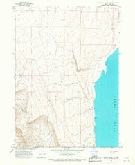 Coglan Buttes NE Oregon Historical topographic map, 1:24000 scale, 7.5 X 7.5 Minute, Year 1966