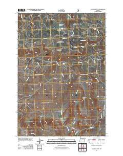 Collins Butte Oregon Historical topographic map, 1:24000 scale, 7.5 X 7.5 Minute, Year 2011