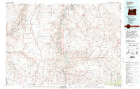 Condon Oregon Historical topographic map, 1:100000 scale, 30 X 60 Minute, Year 1981