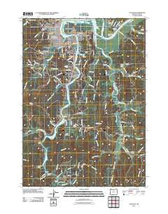 Coos Bay Oregon Historical topographic map, 1:24000 scale, 7.5 X 7.5 Minute, Year 2011