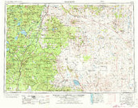 Crescent Oregon Historical topographic map, 1:250000 scale, 1 X 2 Degree, Year 1970