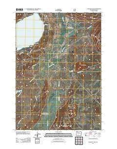 Crescent Lake Oregon Historical topographic map, 1:24000 scale, 7.5 X 7.5 Minute, Year 2011