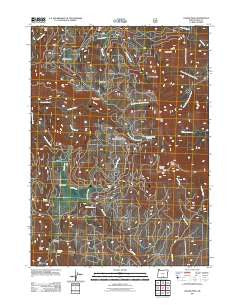Crook Peak Oregon Historical topographic map, 1:24000 scale, 7.5 X 7.5 Minute, Year 2011