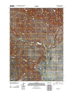 Crowley Oregon Historical topographic map, 1:24000 scale, 7.5 X 7.5 Minute, Year 2011
