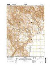Crowley Oregon Current topographic map, 1:24000 scale, 7.5 X 7.5 Minute, Year 2014 from Oregon Maps Store