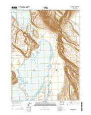 Crump Lake Oregon Current topographic map, 1:24000 scale, 7.5 X 7.5 Minute, Year 2014 from Oregon Maps Store
