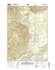 Cryder Butte Oregon Current topographic map, 1:24000 scale, 7.5 X 7.5 Minute, Year 2014 from Oregon Maps Store