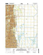 Crystal Spring Oregon Current topographic map, 1:24000 scale, 7.5 X 7.5 Minute, Year 2014 from Oregon Maps Store