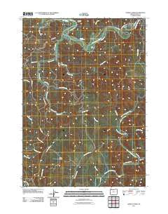 Daniels Creek Oregon Historical topographic map, 1:24000 scale, 7.5 X 7.5 Minute, Year 2011