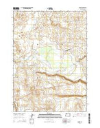 Danner Oregon Current topographic map, 1:24000 scale, 7.5 X 7.5 Minute, Year 2014 from Oregon Map Store
