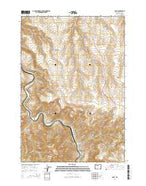 Dant Oregon Current topographic map, 1:24000 scale, 7.5 X 7.5 Minute, Year 2014 from Oregon Map Store