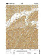 Days Creek Oregon Current topographic map, 1:24000 scale, 7.5 X 7.5 Minute, Year 2014 from Oregon Map Store