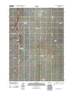Defeat Butte Oregon Historical topographic map, 1:24000 scale, 7.5 X 7.5 Minute, Year 2011