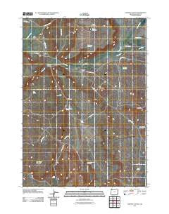 Downey Canyon Oregon Historical topographic map, 1:24000 scale, 7.5 X 7.5 Minute, Year 2011
