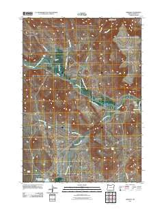 Drewsey Oregon Historical topographic map, 1:24000 scale, 7.5 X 7.5 Minute, Year 2011