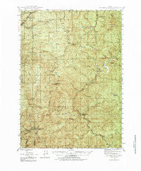 Dutchman Butte Oregon Historical topographic map, 1:62500 scale, 15 X 15 Minute, Year 1946