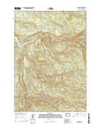 Fernwood Oregon Current topographic map, 1:24000 scale, 7.5 X 7.5 Minute, Year 2014 from Oregon Map Store
