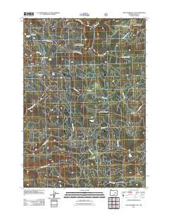 Five Hundred Flat Oregon Historical topographic map, 1:24000 scale, 7.5 X 7.5 Minute, Year 2011