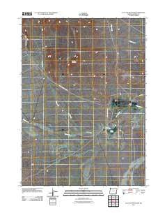 Flat Top Mountain Oregon Historical topographic map, 1:24000 scale, 7.5 X 7.5 Minute, Year 2011
