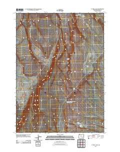 Flybee Lake Oregon Historical topographic map, 1:24000 scale, 7.5 X 7.5 Minute, Year 2011