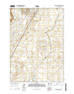 Forked Horn Butte Oregon Current topographic map, 1:24000 scale, 7.5 X 7.5 Minute, Year 2014 from Oregon Map Store