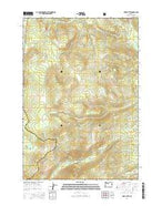 Fort Butte Oregon Current topographic map, 1:24000 scale, 7.5 X 7.5 Minute, Year 2014 from Oregon Map Store