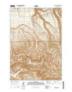 Fossil North Oregon Current topographic map, 1:24000 scale, 7.5 X 7.5 Minute, Year 2014 from Oregon Map Store