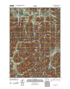 Fox Hollow Oregon Historical topographic map, 1:24000 scale, 7.5 X 7.5 Minute, Year 2011